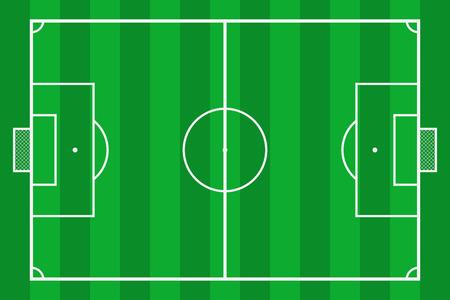 Soccer field. Green grass football court. Mockup background field for sport strategy and poster. Vector illustrator. Standard-Bild - 127854838