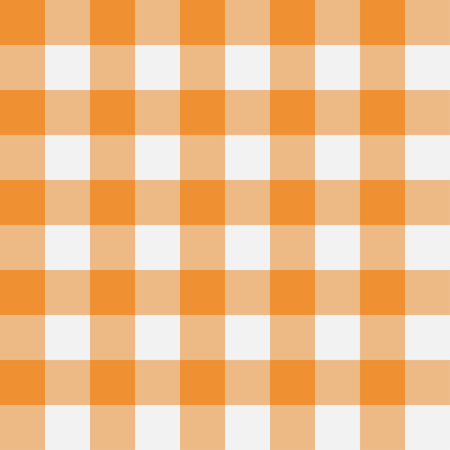 Orange Gingham seamless pattern. Texture from rhombus/squares for - plaid, tablecloths, clothes, shirts, dresses, paper, bedding, blankets, quilts and other textile products. Vector illustration. Stock Vector - 127854844
