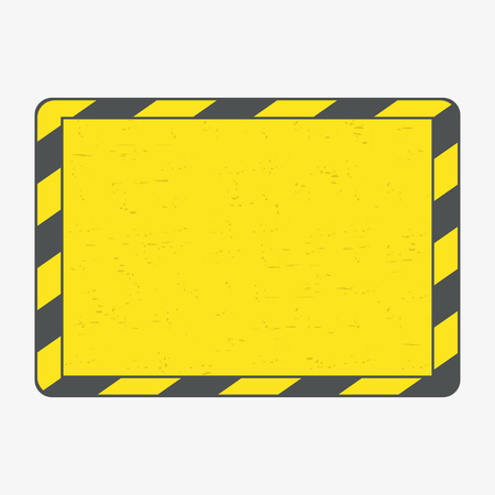 Hazard frame. Black and yellow lines frame with grunge. Vector illustration. Ilustrace