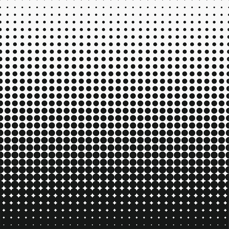 Dot halftone effect. Circle monochrome abstract semitone element. Vector illustration. Ilustrace