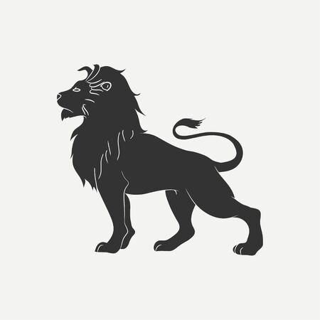 Lion icon. Template. for logo. Vector illustration. Çizim