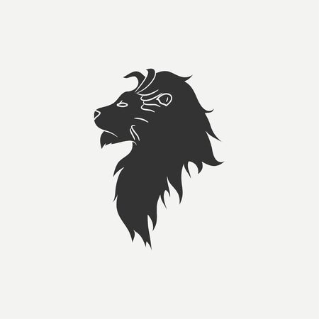 Lions Head icon. Logo template. Vector illustration. Çizim