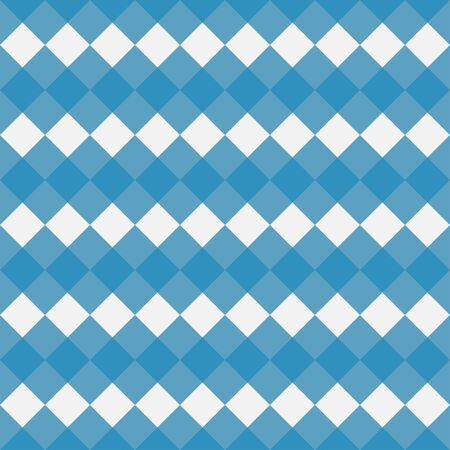 Blue Gingham seamless pattern. Texture from rhombi squares for - plaid, tablecloths, clothes, shirts, dresses, paper, bedding, blankets, quilts and other textile products. Vector illustration.