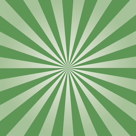 Comic background. Green Sunburst pattern. Vector illustration. Ilustração
