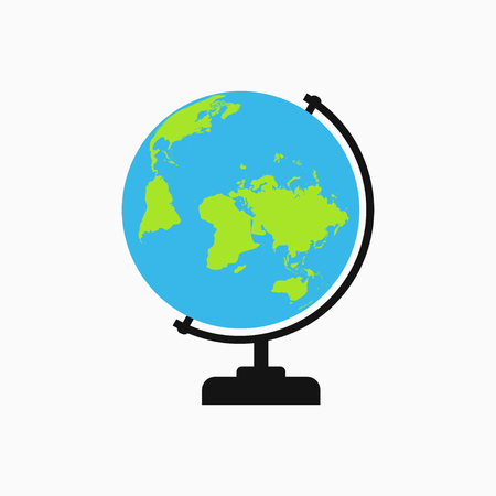 Globe icon. Template for logo. Vector illustration.
