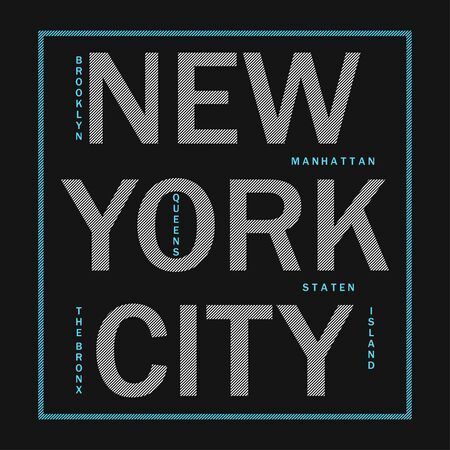 New York City - modern typography for design clothes, athletic t-shirt. Graphics for print product, apparel. Badge for sportswear. Vector illustration