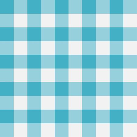 Blue Gingham seamless pattern. Perpendicular strips. Texture for - plaid, tablecloths, clothes, shirts, dresses, paper, bedding, blankets, quilts and other textile products. Vector illustration.