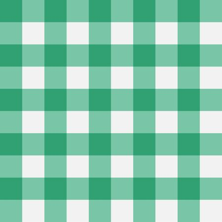 Green Gingham seamless pattern. Perpendicular strips. Texture for - plaid, tablecloths, clothes, shirts, dresses, paper, bedding, blankets, quilts and other textile products. Vector illustration.