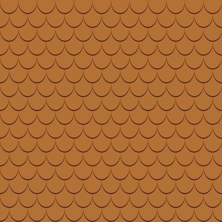 Roof tiles seamless pattern. Shingles profiles background. Vector illustration.