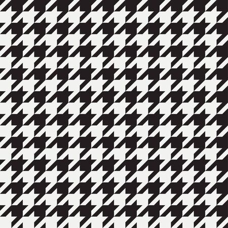 Houndstooth seamless pattern. Background for clothing and other textile products. Black and white backdrop. Vector illustration. Vector Illustration