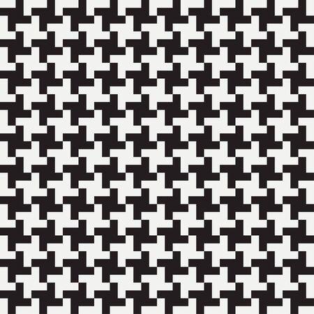Pepita-nahtloses Muster. Hahnentrittmuster. Hintergrund für Kleidung und andere Textilprodukte. Schwarz-weißer Hintergrund. Vektor-Illustration. Vektorgrafik