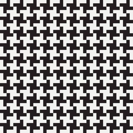 Pepita seamless pattern. Houndstooth print. Background for clothing and other textile products. Black and white backdrop. Vector illustration. Vetores