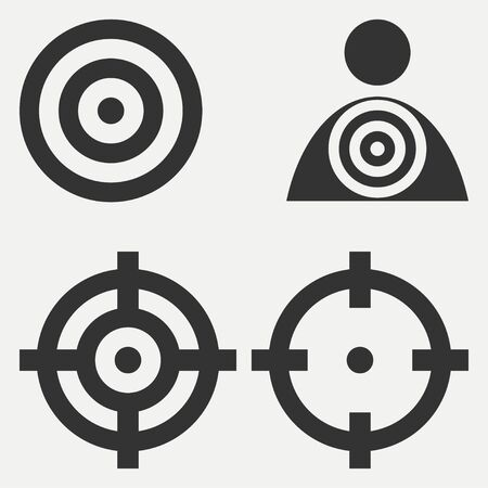 Target icons. Goal design on white background. Vector illustration.
