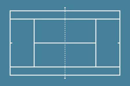 Tennis court. Mockup background field for sport strategy and poster. Vector illustrator. Banque d'images - 125468751