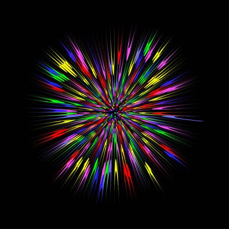 Colorful burst, abstract explosion. Color blast graphic effect. Vector illustration. 向量圖像