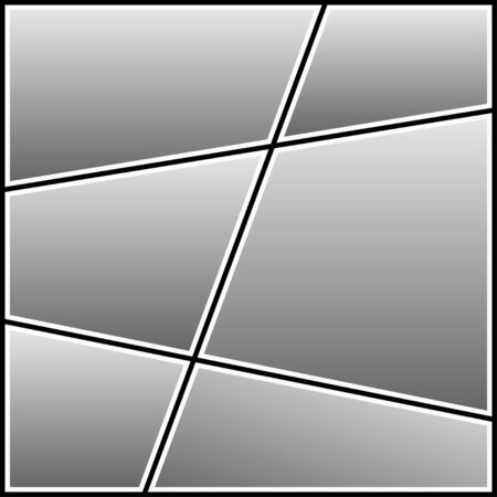 Fotocollage-Vorlage. Leerer Rahmen für Fotografie-Bild. Vektor-Illustration. Vektorgrafik