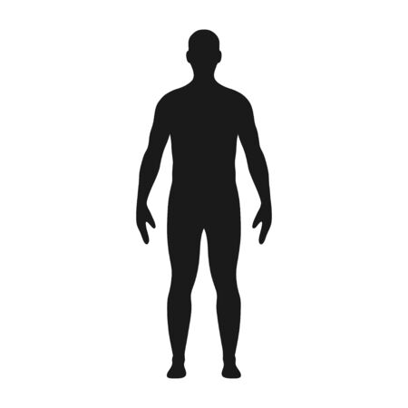 Man silhouette. Illustration of male body silhouette.