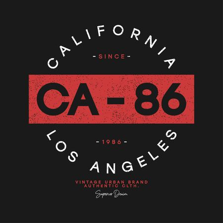 California, Los Angeles t-shirt design. Athletic apparel print, typography graphics for tee shirt with grunge. Vector illustration. 일러스트