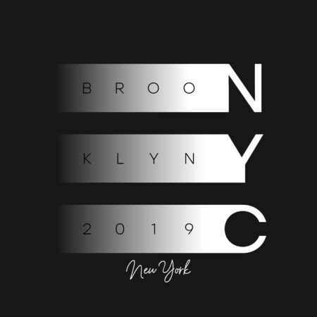 NYC modern design for t-shirt. New York, Brooklyn apparel print. Typography graphics for t shirt. Vector illustration.