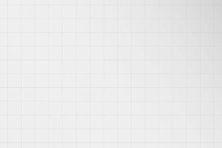 Weiße Fliesenwand. Muster aus Keramikfliesengitter für Badezimmer, Küche oder Toilette. Realistische quadratische 3D-Fliese mit Schatten. Vektor-Illustration.
