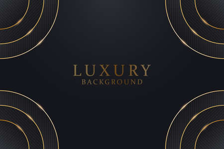 Black and gold background template. Abstract dark texture background with golden decorations. Vector illustration. 일러스트