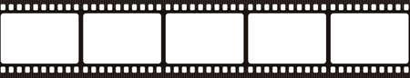 Film strip. Retro film strip frame. Cinema filmstrip template. Vector illustration. Illusztráció