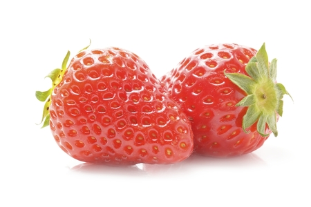 bacca: Fresh strawberry isolated on white background