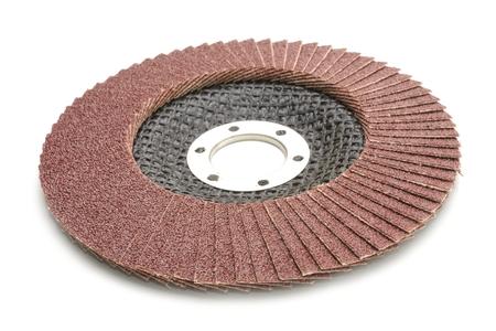abrasive: abrasive wheel isolated on a white background Stock Photo