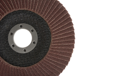 abrasive: red color flap abrasive disc Stock Photo
