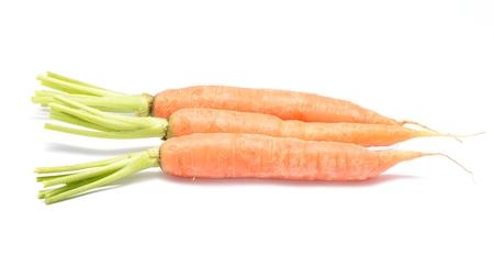 carrots isolated on white background Stock Photo