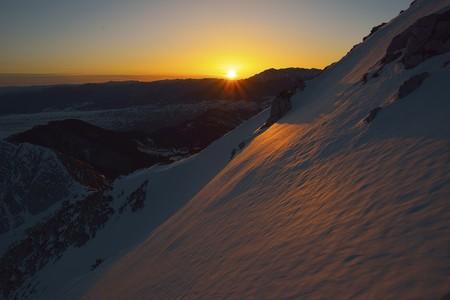 fantastic evening winter landscape Stock Photo