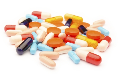 mixed pills, tablets and capsules