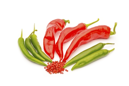 capsaicin: chili pepper isolated on a white background