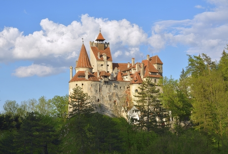 Beautiful castle in Bran, Brasov, Transylvania, Romania