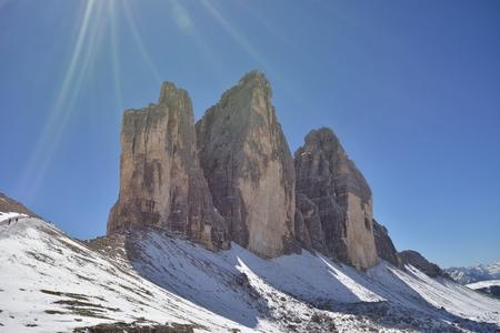 The Tre Cime di Lavaredo (Italian for