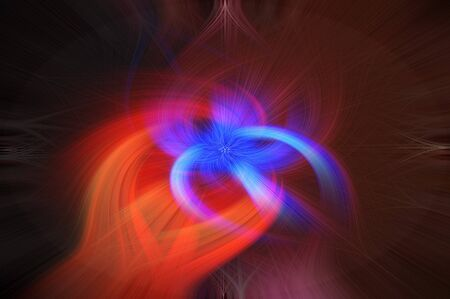 Abstract swirl background. Twisted fire flower design.