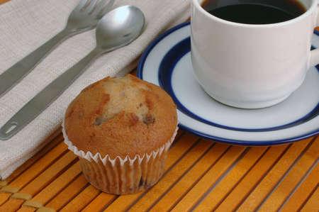 placemat: Tazza di caff� e piattino sul luogo di legno lamella-mat Archivio Fotografico