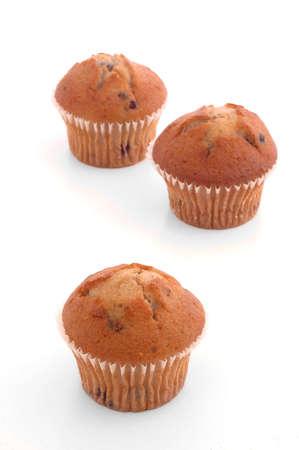 Three Muffins over White Stock Photo - 256499