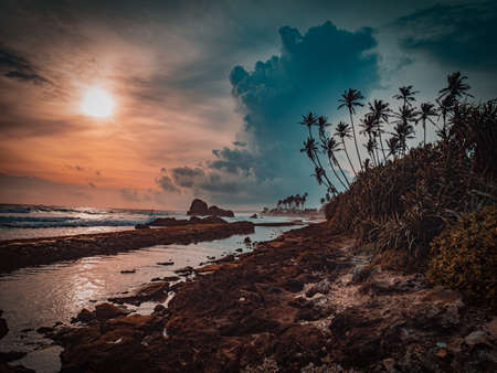 Beautiful Tropical Beach In Sri Lanka. Sri Lanka Is Endowed With Over A Thousand Miles Of Beautiful Golden Beaches That Are Fringed With Coconut Palms Making The Ideal Destination For A Beach Holiday