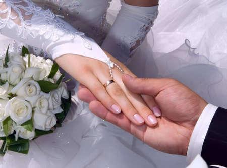bridal dress: newlywed Stock Photo