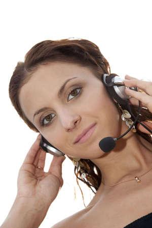 beautiful  customer service woman photo