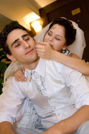 happy newlyweds photo