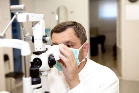 diopter: Doctor, in ophthalmology clinic