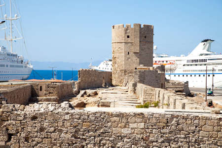 rhodes: Old harbour fortification.Rhodes.Greece