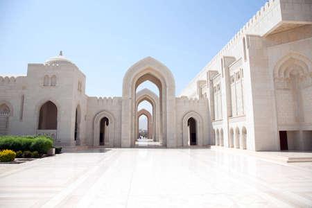 islamic prayer: Muscat, Oman, Sultan Qaboos  Grand Mosque Stock Photo