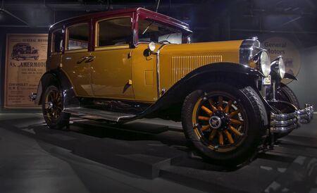 RIGA, LATVIA - OCTOBER 16: Retro car 1929 of the year Buick Series 116 Riga Motor Museum, October 16, 2016 in Riga, Latvia