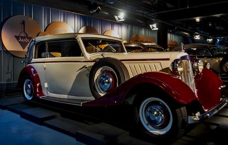 RIGA, LATVIA - OCTOBER 16: Retro car of the year 1934 AUDI Front typ UW Riga Motor Museum, October 16, 2016 in Riga, Latvia