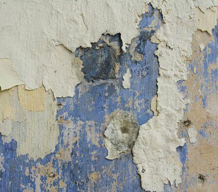 Abstract closeup peeling paint and wall grunge