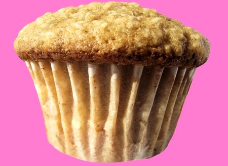 Freshly Baked Muffin On A Party Pink Background photo