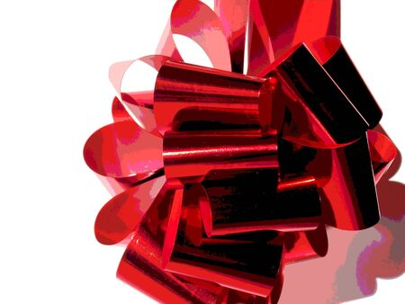 Bright Red Bow/Ribbon Stock Photo - 8038827